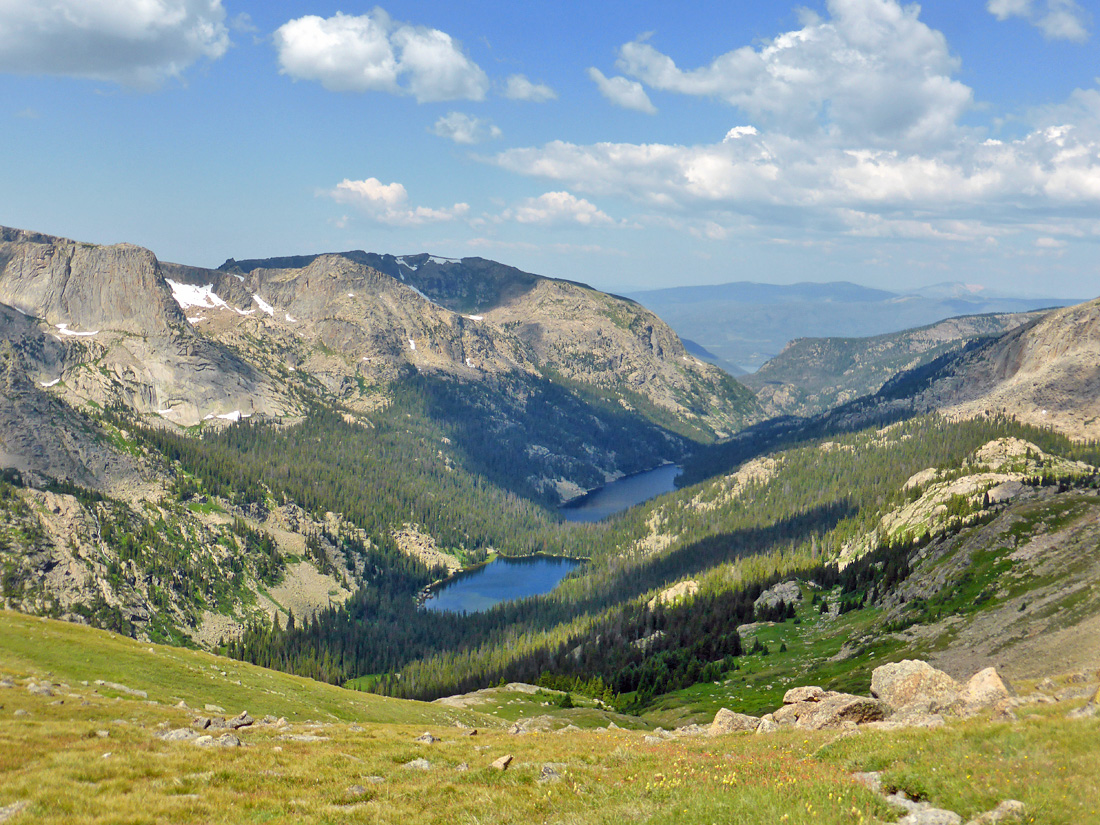 View down the East Inlet Valley from Boulder-Grand Pass (12,061')